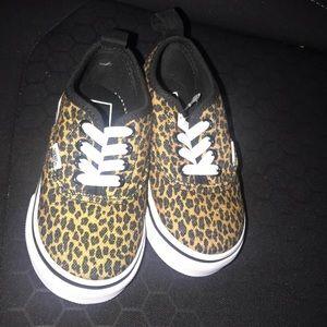 Toddler size 6 cheetah print vans BRAND NEW